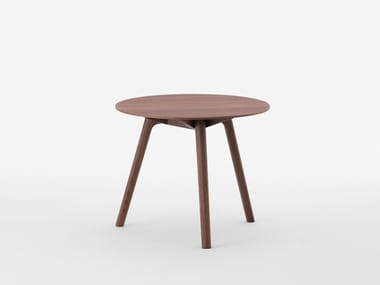 Round walnut side table NADIA | Walnut coffee table