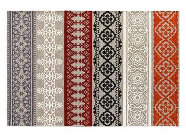 Patterned rectangular rug NADIRA