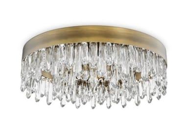 Lampada da soffitto in ottone con cristalli NAICCA | Lampada da soffitto
