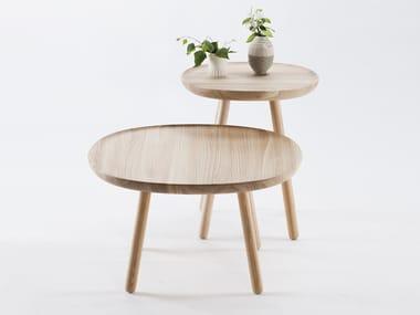 Solid wood side table NAÏVE | Side table