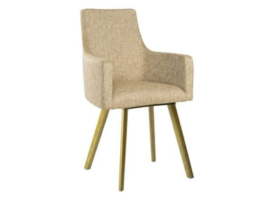 Upholstered fabric chair with armrests NANCY PO01 BASE 14