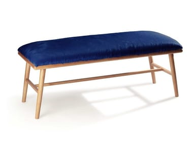 Upholstered leather bench NANO | Bench