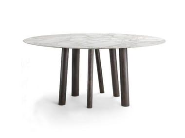 Tavolo da pranzo rotondo in marmo NAOKI | Tavolo rotondo