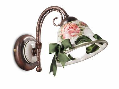 Applique in ceramica con braccio fisso NAPOLI | Applique