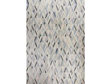Tappeto rettangolare in viscosa a motivi geometrici NARCISO 23015-6767