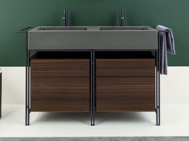 Floor-standing vanity unit with drawers NARCISO DOPPIO