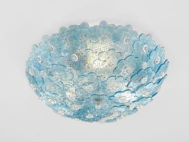 Plafoniera fatta a mano in vetro di Murano NARCISO