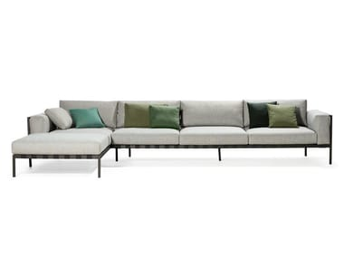 Corner fabric sofa with chaise longue NATAL ALU SOFA | Corner sofa