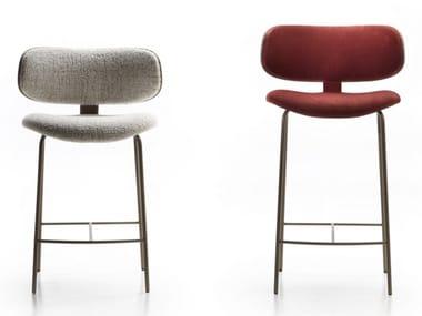 High fabric and metal stool NATALIA | Stool
