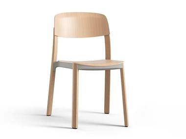 Stackable wooden chair NATE | Chair