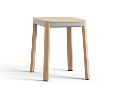 Wooden stool NATE | Wooden stool