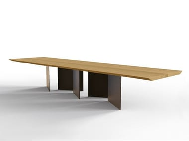 Rectangular oak table NATURA 2