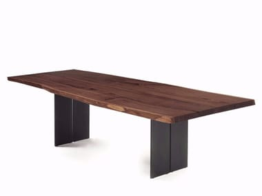 Rectangular solid wood table NATURA PLANK