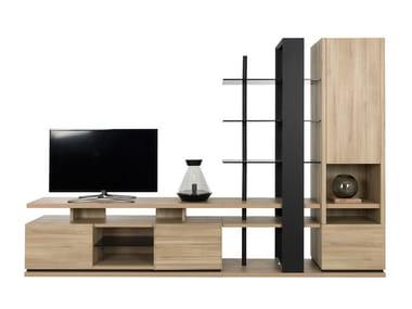 TV wall system NATURA   Storage wall