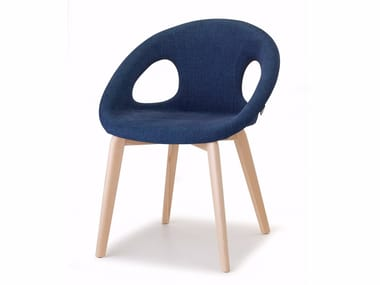 Upholstered fabric chair NATURAL DROP POP | Chair