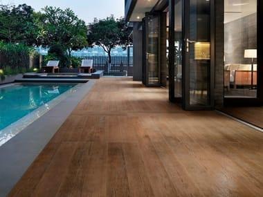 Pavimento/rivestimento in gres porcellanato effetto legno NATURE BISQUE