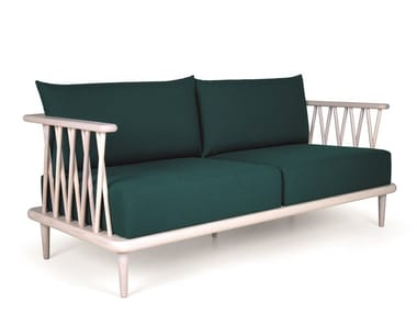 2 seater wooden sofa NATURE DOUBLE