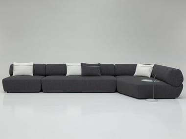 Sectional fabric sofa NAVIGLIO