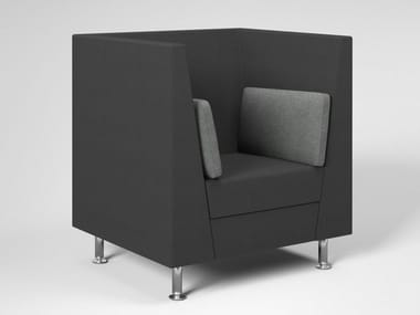 Acoustic fabric armchair with armrests NAXOS ACOUSTIC | Armchair