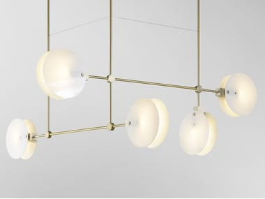 Glass pendant lamp NEBULAE 35