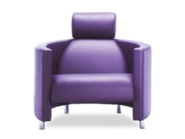 Leather Armchair With Headrest NEGRESCO | Armchair