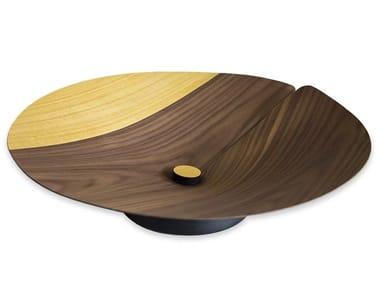Wooden centerpiece NELUMBO COLORS WALNUT YELLOW | Centerpiece
