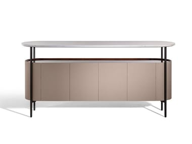 Sideboard covered in leather and marble top MI | Sideboard