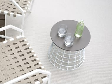 Round garden side table NET | Round coffee table