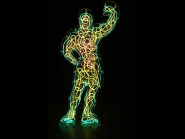 Plexiglass sculpture with light NETTUNO 2009