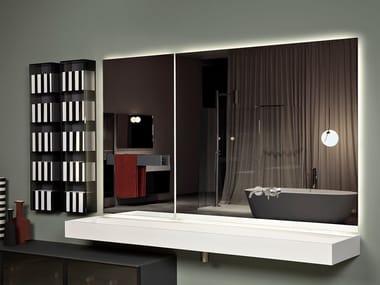Specchio da parete con mensola per bagno NEUTROKIT