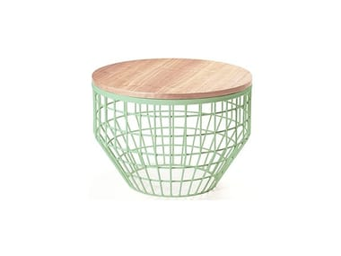 Round metal coffee table NEW AIR | Wooden coffee table