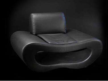 Leather armchair NEW LIPS | Armchair