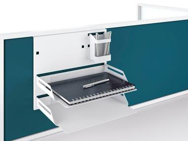 Powder coated steel desk set NEW WAVE