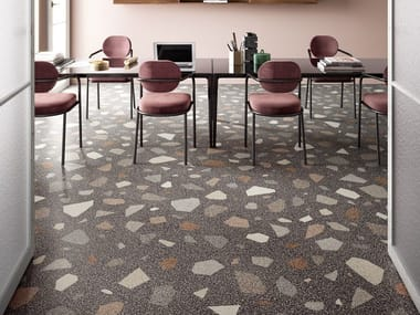 Porcelain stoneware wall/floor tiles terrazzo effect NEWDECÒ PALLADIAN DARK