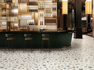 Porcelain stoneware wall/floor tiles terrazzo effect NEWDECÒ PALLADIAN LIGHT