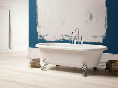 Vasca da bagno centro stanza ovale in Kstone su piedi NEWPORT