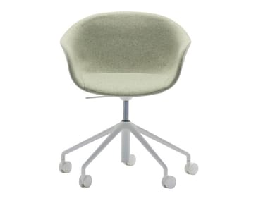 Swivel fabric office chair with 5-Spoke base with castors NEXT SO0498