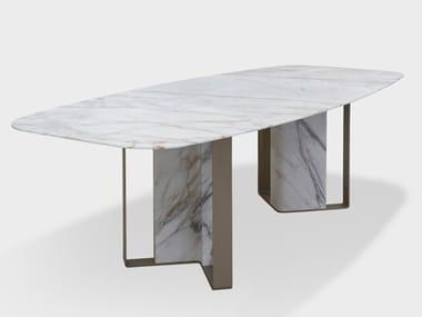 Tavolo ovale in marmo NIBBLES CALACATTA