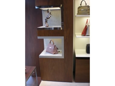 Wall-mounted one-sided retail display unit DISPLAY NICHES FOR SHOP INTERIOR