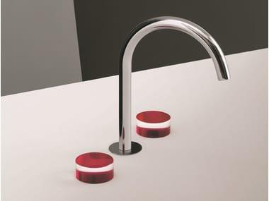 3 hole countertop chromed brass washbasin tap NICE | Countertop washbasin tap