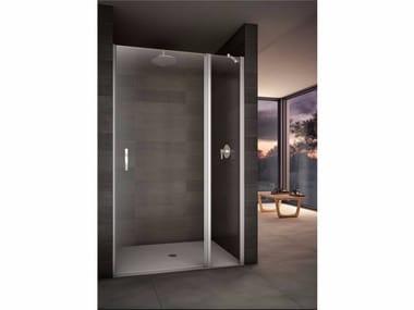 Box doccia a nicchia con piatto con porta a battente LOOK | Box doccia a nicchia