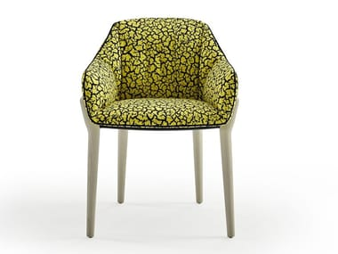Upholstered fabric chair with armrests NIDO | Chair