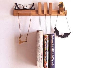 Wall-mounted oak bedside table NIGHTSTAND   Oak bedside table