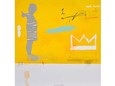 Canvas Painting Niña amarillo