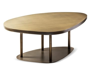 Contemporary style low bronze coffee table NINFEA | Bronze coffee table