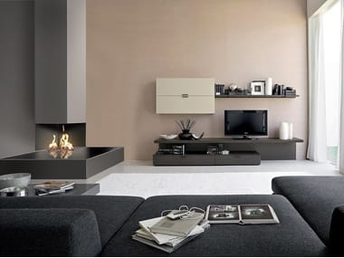 Gas corner fireplace NINFEA | Corner fireplace
