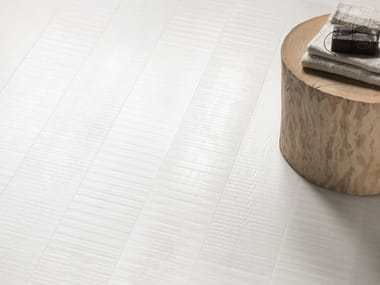 Porcelain stoneware wall/floor tiles with wood effect NO-CODE LEGNO LACCATO BIANCO