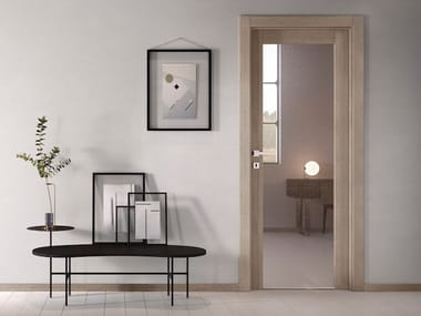 Hinged glass door with concealed hinges NO LIMITS | Glass door