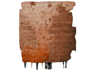 Handmade rug NOBU ICE CUT COPPER DUST