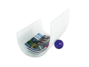 Glass magazine rack NODO